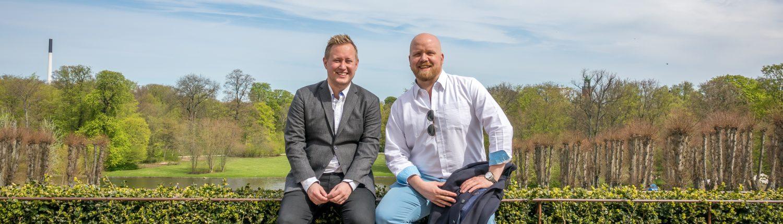 Kundeservice underviser Jacob og Steffen byder velkommen til kursus
